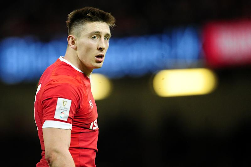 CARDIFF, WALES - FEBRUARY 22: Josh Adams of Wales during the Guinness Six Nations Championship Round 3 match between Wales and France at the Principality Stadium on February 22, 2020 in Cardiff, Wales. (Photo by Athena Pictures/Getty Images)