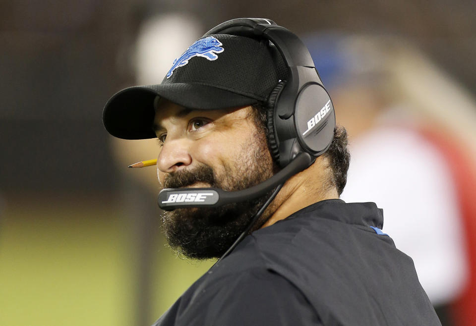 Rookie Detroit Lions head coach Matt Patricia watched his franchise quarterback throw five interceptions as his team lost at home on Monday night to the New York Jets. (AP)