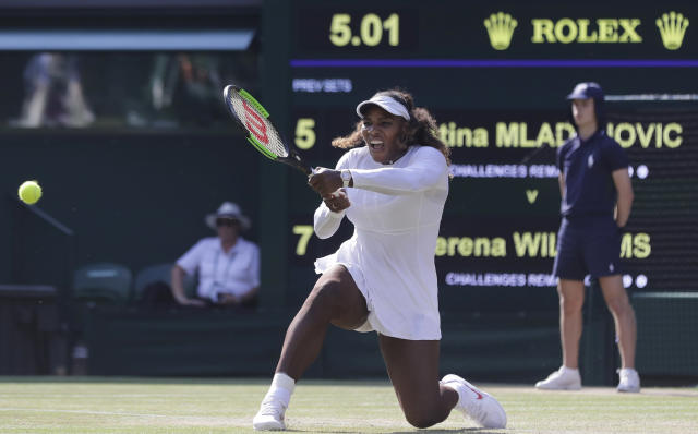 "Tennis star <a class=""link rapid-noclick-resp"" href=""/olympics/rio-2016/a/1132744/"" data-ylk=""slk:Serena Williams"">Serena Williams</a> discusses having to play every opponent at their best. (AP Photo)"