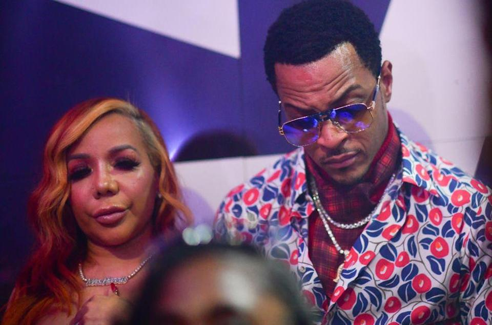T.I. and Tiny seen in this 2020 photo. / Credit: Prince Williams/Wireimage via Getty
