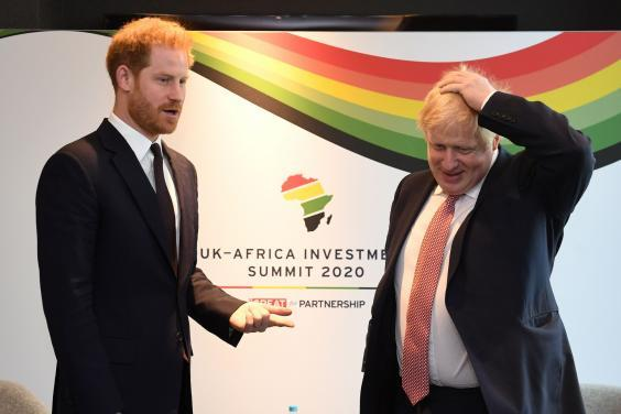 The Duke of Sussex spoke with Boris Johnson at the summit (POOL/AFP via Getty Images)