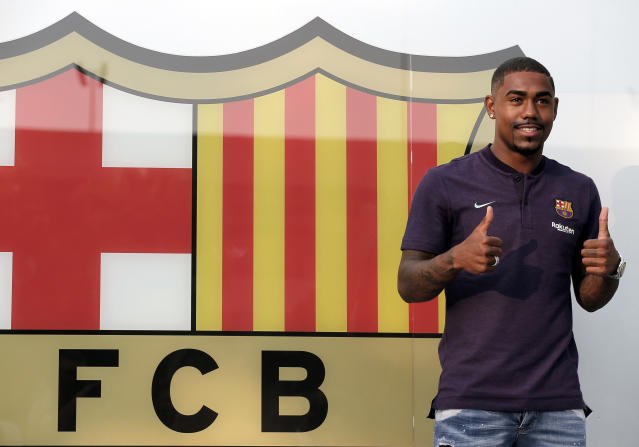 Don't expect Roma to be accepting any apologies from Barcelona for how they acquired Malcom. (AP Photo)
