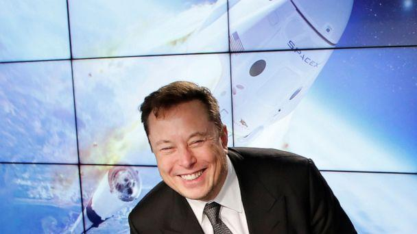 PHOTO: SpaceX founder and chief engineer Elon Musk reacts at a post-launch news conference to discuss the  SpaceX Crew Dragon astronaut capsule in-flight abort test at the Kennedy Space Center in Cape Canaveral, Fla., Jan. 19, 2020. (Joe Skipper/Reuters, File)