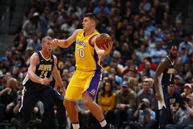 "<a class=""link rapid-noclick-resp"" href=""/nba/players/5663/"" data-ylk=""slk:Ivica Zubac"">Ivica Zubac</a> has played two seasons with the <a class=""link rapid-noclick-resp"" href=""/nba/teams/lal"" data-ylk=""slk:Lakers"">Lakers</a>. (AP)"