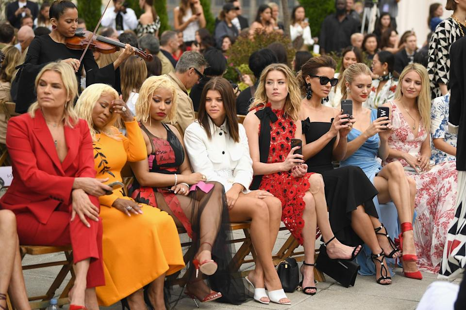 Sofia Richie joined Amber Heard, Nicki Minaj and Kate Beckinsale on the FROW in September 2018 [Photo: Getty]