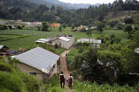 A general view shows the village where the family of Claudia Gomez, a 19-year old Guatemalan immigrant who was shot by an U.S. Border Patrol officer, lives in San Juan Ostuncalco