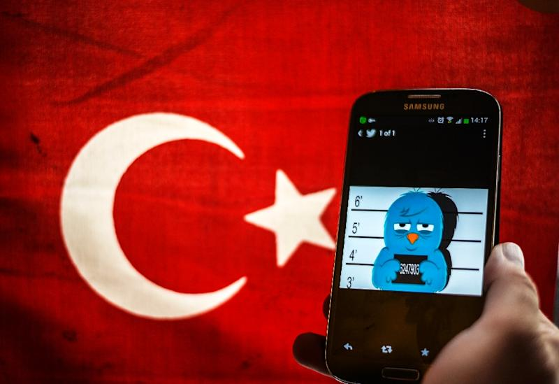 The monitoring site Turkey Blocks said that Twitter, Facebook and YouTube were down in Turkey (AFP Photo/Ozan Kose)