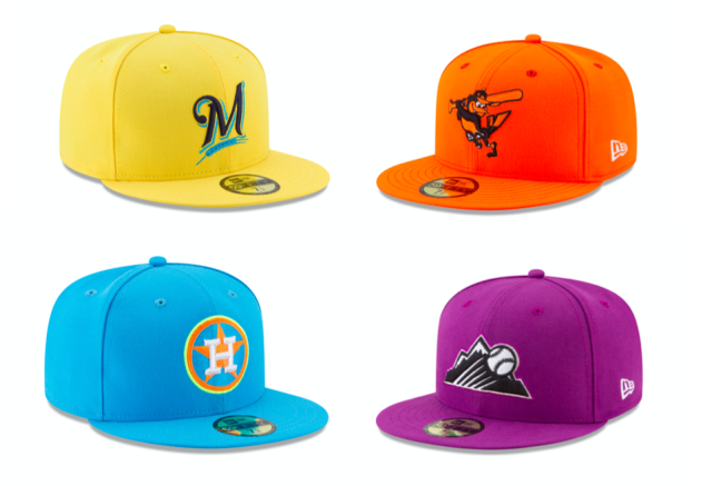 New Era designed new brightly-colored caps for Players Weekend. (MLB)