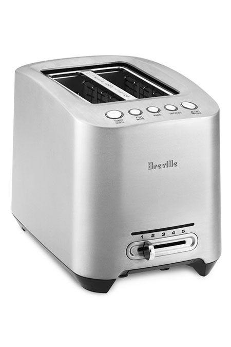 """<p><strong>Breville </strong></p><p>amazon.com</p><p><strong>$119.90</strong></p><p><a href=""""http://www.amazon.com/dp/B00140SC64/?tag=syn-yahoo-20&ascsubtag=%5Bartid%7C10055.g.4921%5Bsrc%7Cyahoo-us"""" target=""""_blank"""">Shop Now</a></p><p>The Breville Die-Cast 2 Slice Toaster was the top model in our test. It's worth every cent if you're looking for a champion toaster that will <strong>turn out evenly golden brown slices of bread batch after batch</strong>. With the push of a button, the grates lower your toast automatically — no lever-pressing. It also features extra wide slots for bagels.</p><p>Use the Lift and Look setting to check on its progress; if it isn't browned to perfection, use the A Bit More feature to add extra time. Also worth noting that the sleek die-cast metal housing makes it major eye candy for your countertop... who knew toasters could be pretty?</p>"""