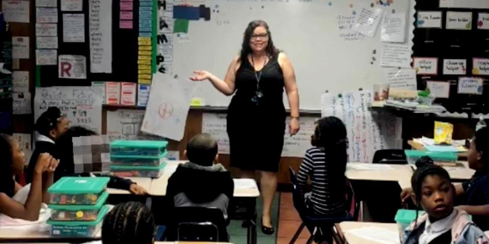 When Annette Fernandez realized it would be hard for her third grade students to wash their hands, she started a GoFundMe campaign to raise money for a portable sink. In two hours it was funded. (Courtesy Annette Fernandez)
