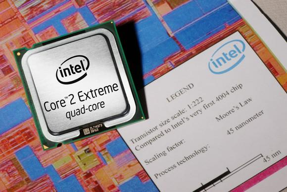 An Intel Core 2 Extreme processor.