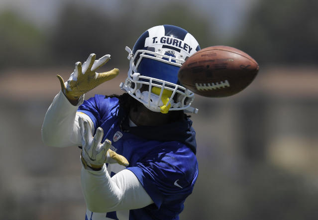 Los Angeles running back Todd Gurley and the Rams are reportedly putting the finishing touches on a four-year contract extension. (AP)