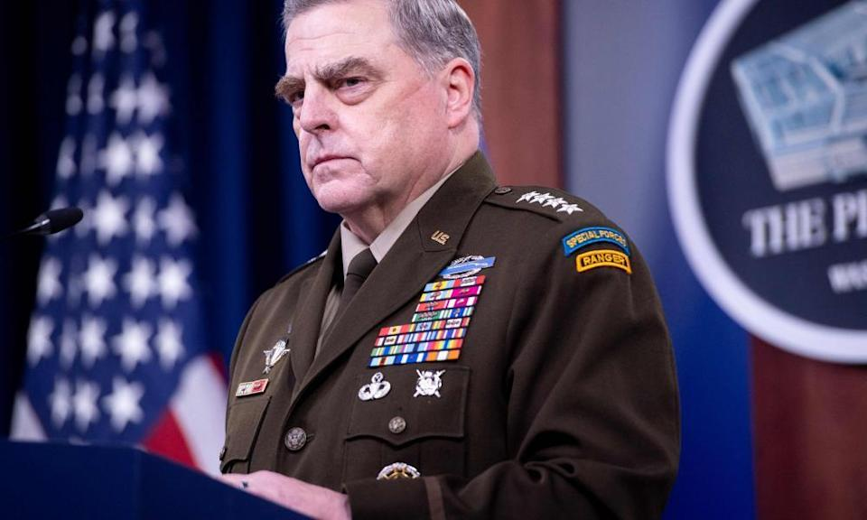 Mark Milley at a Pentagon press briefing in September 2021