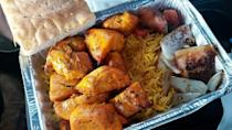 """<p><strong><a href=""""https://www.yelp.com/biz/kabob-on-wheels-wilmington-manor"""" rel=""""nofollow noopener"""" target=""""_blank"""" data-ylk=""""slk:Kabob On Wheels"""" class=""""link rapid-noclick-resp"""">Kabob On Wheels</a>, Wilmington Manor</strong></p><p>""""I love this place! The chicken tikka and the chicken kabob plates are the bomb. Does not take long to make and it's always quality."""" – Yelp user <a href=""""https://www.yelp.com/user_details?userid=r1Wugz2q-2CLFS86jF4vuA"""" rel=""""nofollow noopener"""" target=""""_blank"""" data-ylk=""""slk:Alia H."""" class=""""link rapid-noclick-resp"""">Alia H.</a> </p><p>Photo: Yelp/<a href=""""https://www.yelp.com/user_details?userid=lajFU_Rs3kn7Gbt5REmKsg"""" rel=""""nofollow noopener"""" target=""""_blank"""" data-ylk=""""slk:Maria B."""" class=""""link rapid-noclick-resp"""">Maria B.</a></p>"""