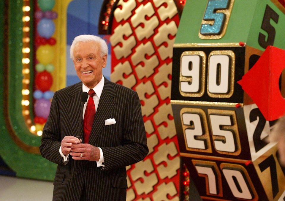 """<p><em>The Price Is Right</em> host earned an athletic scholarship and played basketball for <a href=""""https://www.thenorthwestern.com/picture-gallery/news/2018/05/24/bob-barker-at-drury-university/35302335/"""" rel=""""nofollow noopener"""" target=""""_blank"""" data-ylk=""""slk:two years at Drury University"""" class=""""link rapid-noclick-resp"""">two years at Drury University</a>, before temporarily leaving school to <a href=""""https://krcgtv.com/news/local/bob-barker-gives-1-million-to-drury-university"""" rel=""""nofollow noopener"""" target=""""_blank"""" data-ylk=""""slk:join the Navy during World War II"""" class=""""link rapid-noclick-resp"""">join the Navy during World War II</a>. </p>"""