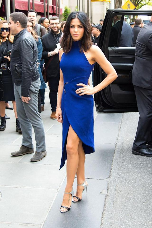 Jenna Dewan Tatum in David Koma. (Photo: Getty Images)