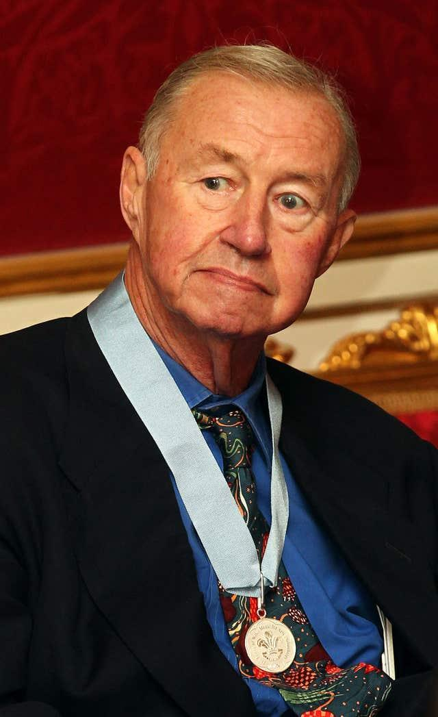 Sir Terence Conran after being presented with The Prince of Wales' Medals for Arts Philanthropy