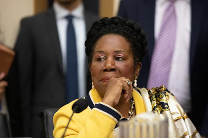 Rep. Sheila Jackson Lee (D-TX) listens during a House Judiciary Subcommittee hearing about reparations for the descendants of slaves on Wednesday June 19, 2019.  (Photo by Cheriss May/NurPhoto)