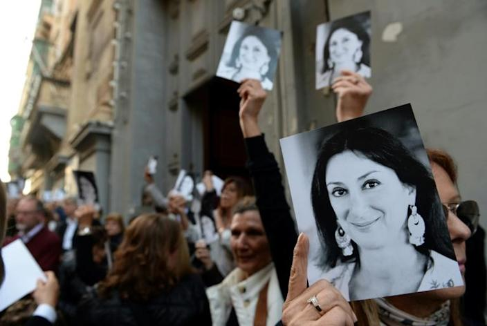"""Journalist Caruana Galizia, described by supporters as a """"one-woman WikiLeaks"""", highlighted corruption in Malta before she was blown up by a car bomb (AFP Photo/Matthew Mirabelli)"""