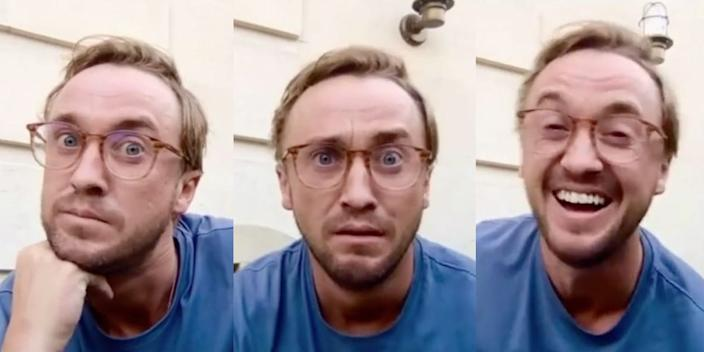 Tom Felton DracoTok Draco Malfoy reaction TikTok