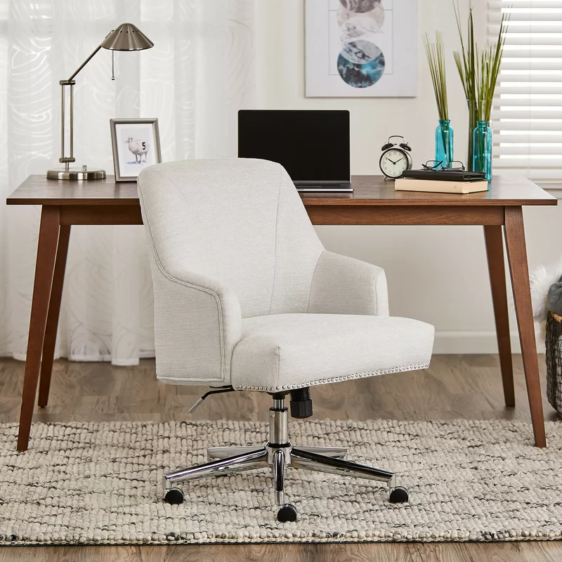 """<h2>Serta Leighton Home Office Chair</h2><br><strong>Best For: Supporting Butts & Decor</strong><br>If you're looking for butt support, but still concerned with style, this blush-hued beauty has your number — its elegantly crafted frame with chrome finished accents still packs the ergonomic power of Serta's comfort memory foam in the seat and arms rests, 360-degree swivel capabilities, and adjustable height. <br><br><strong>The Hype: </strong>4.7 out of 5 stars and 1700 reviews on <a href=""""https://www.wayfair.com/furniture/pdp/serta-at-home-serta-leighton-task-chair-w001282418.html"""" rel=""""nofollow noopener"""" target=""""_blank"""" data-ylk=""""slk:Wayfair"""" class=""""link rapid-noclick-resp"""">Wayfair</a><br><br><strong>Comfy Butts Say:</strong> """"I love this chair. It looks beautiful and makes my places look more cozy and elegant at the same time, the fabric is decent and soft. The cushion is comfortable. I am glad we bought it. I couldn't be happier with my chair. Again super comfortable!!!""""<br><br><strong>Serta</strong> Leighton Home Office Chair, $, available at <a href=""""https://amzn.to/3mzf73w"""" rel=""""nofollow noopener"""" target=""""_blank"""" data-ylk=""""slk:Amazon"""" class=""""link rapid-noclick-resp"""">Amazon</a><br><br><strong>Serta Home</strong> Leighton Task Chair, $, available at <a href=""""https://go.skimresources.com/?id=30283X879131&url=https%3A%2F%2Fwww.wayfair.com%2Ffurniture%2Fpdp%2Fserta-at-home-serta-leighton-task-chair-w001282418.html"""" rel=""""nofollow noopener"""" target=""""_blank"""" data-ylk=""""slk:Wayfair"""" class=""""link rapid-noclick-resp"""">Wayfair</a>"""