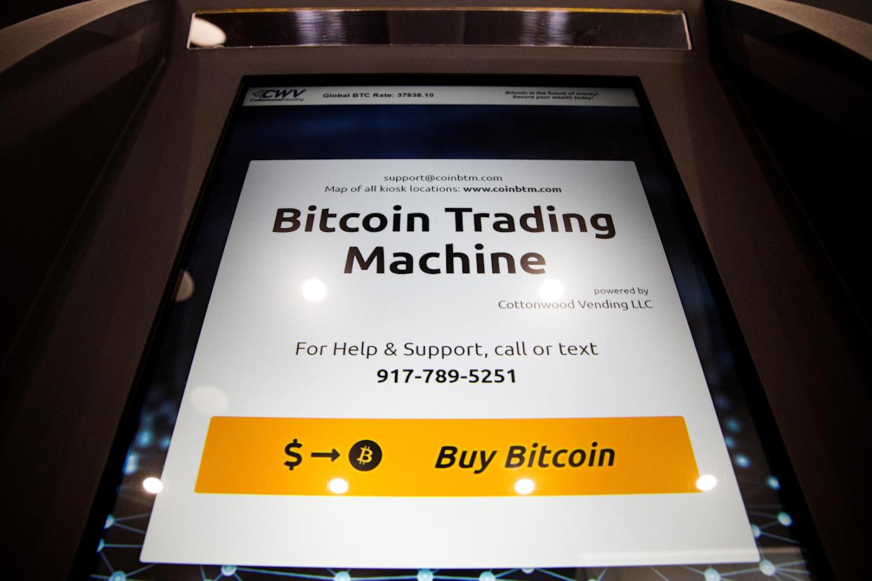 Bitcoin was down roughly 4%. Photo: Reuters
