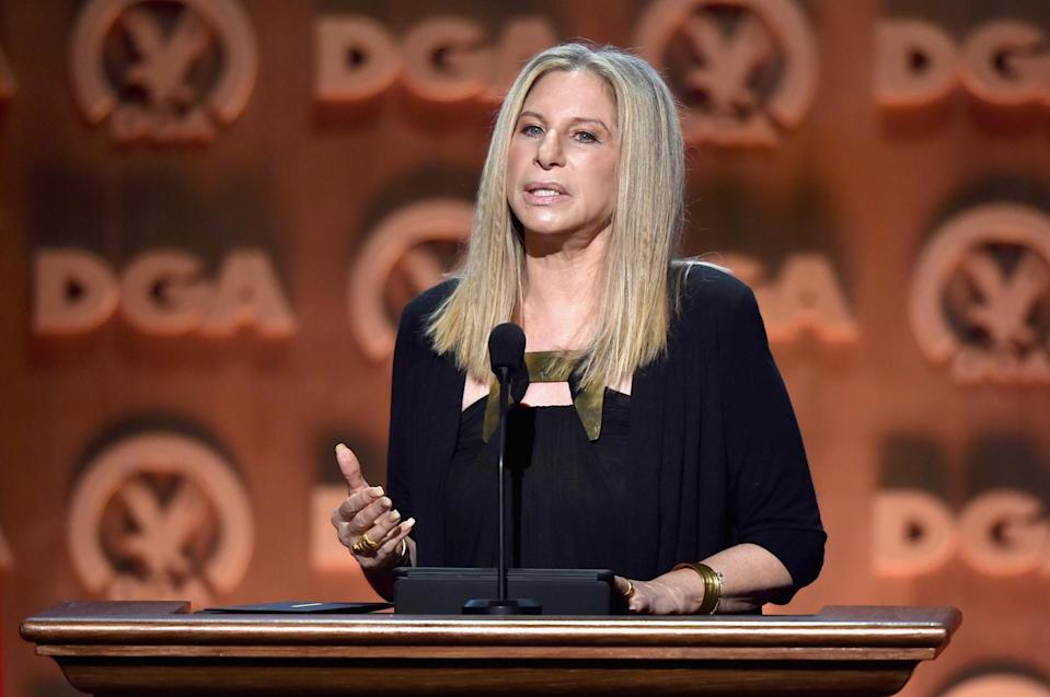 <p>Barbra Streisand may be known for a lot of things but one thing many will not know is that she was the first woman to write, product, direct and star in a major film. That film was 1983's <i>Yentl</i>, a musical drama set in Poland. She is also the first female director to receive the Kennedy Centre Honours and is the only artist to ever receive an Oscar, Tony, Emmy, Grammy, Director's Guild of America, Golden Globe, National Medal of Arts and France's France's Légion d'Honneur. Quite a mouthful. Barbra has two Oscars (one for Best Actress in <i>Funny Girl</i>; the other for Best Original Song) and ten Grammys. Essentially, the woman has won everything you could possibly think of. <i>[Photo: Getty]</i> </p>
