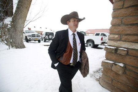 FILE PHOTO - Ryan Bundy returns from church to the Malheur National Wildlife Refuge near Burns, Oregon, January 10, 2016. REUTERS/Jim Urquhart