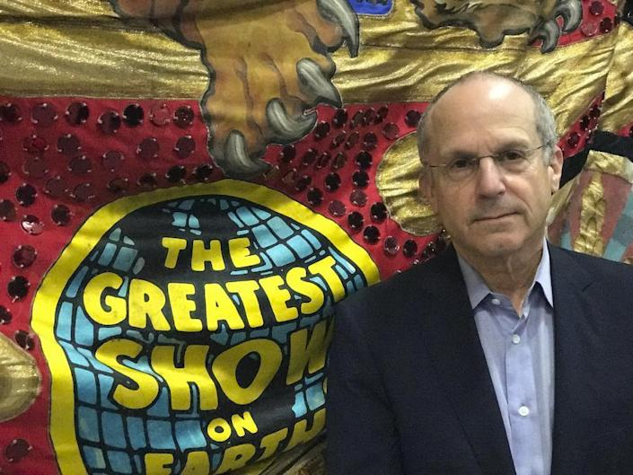 In this Tuesday, Jan. 10, 2017 photo, Chairman and CEO of Feld Entertainment, Kenneth Feld, poses for a photo, in Ellenton, Fla. Feld Entertainment, which owns The Ringling Bros. and Barnum & Bailey Circus told The Associated Press declining attendance combined with high operating costs are among the reasons for closing. Feld said when the company removed elephants from the shows in May of 2016, ticket sales declined more dramatically than expected. (AP Photo/Tamara Lush)