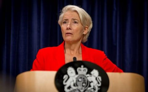 Head of state: Emma Thompson's Vivienne Rook becomes PM - Credit: Guy Farrow/BBC