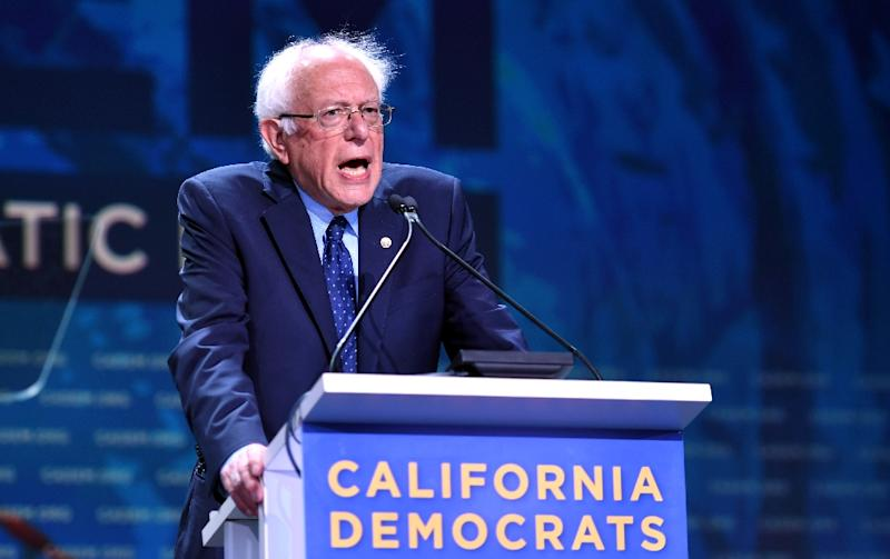 Bernie Sanders, a liberal US senator from Vermont, will go head-to-head against the more moderate Democratic frontrunner Joe Biden in a debate on June 27, 2019 (AFP Photo/Josh Edelson)