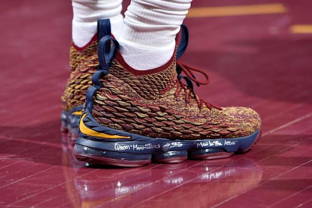 LeBron James always has some pretty sweet sneakers for New Orleans. (Getty Images)