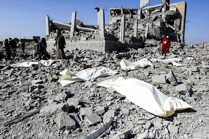 The United Nations ays 52 detaines were among those killed in an air strike by the Saudi-led coalition on a Yemen prison run by the Huthi forces while 68 others are still missing (AFP Photo/-)