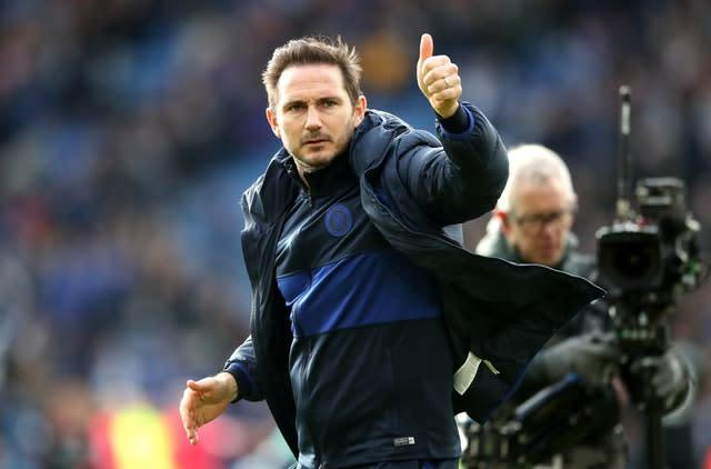 Frank Lampard, pictured, has given Billy Gilmour a big thumbs-up by promoting the teenager into Chelsea's first team squad permanently (Nick Potts/PA)