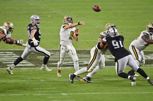 Saints doomed by 129 penalty yards against Raiders