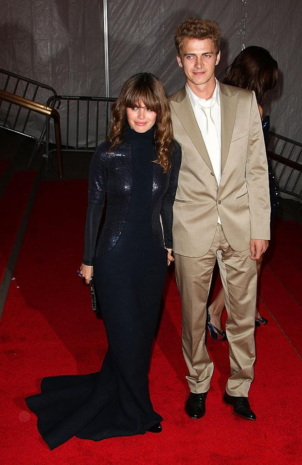 """Cute couple alert! Former """"O.C."""" star Rachel Bilson and her beau Hayden Christensen didn't bother to match their outfits, but they still looked absolutely fabulous. Andrew H. Walker/<a href=""""http://www.gettyimages.com/"""" target=""""new"""">GettyImages.com</a> - May 5, 2008"""