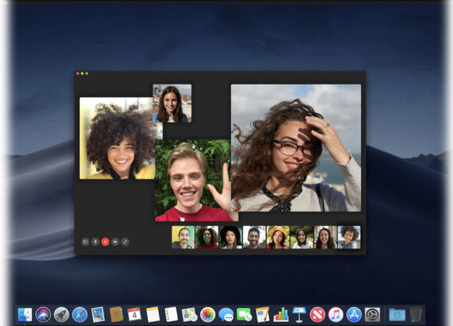Group FaceTime on the Mac.
