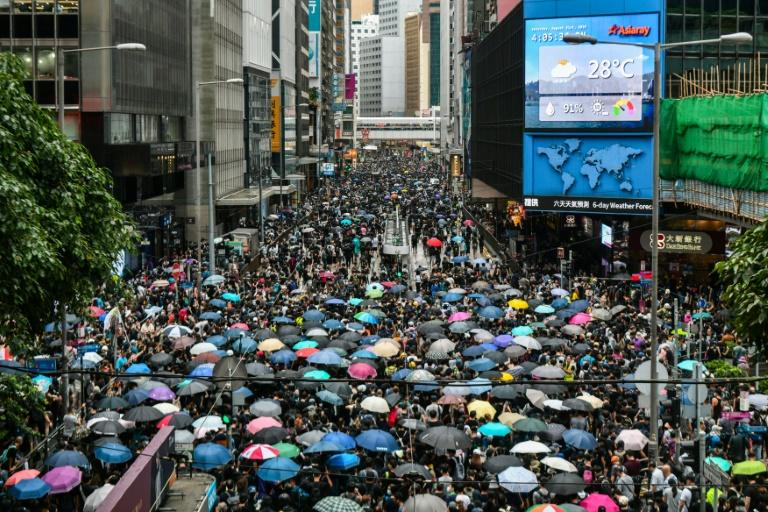 The Hong Kong protests started in opposition to an extradition bill but have morphed into a wider pro-democracy movement