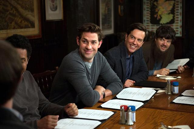 """Finale"" Episode 924/925 -- Pictured: (l-r) John Krasinski as Jim Halpert, Ed Helms as Andy Bernard"