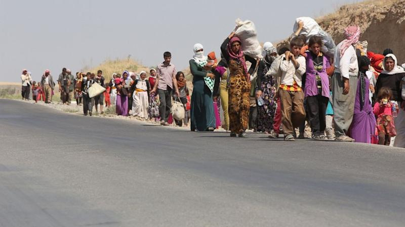 US Military Team Lands on Mt. Sinjar in Iraq to Assess Yazidi Crisis