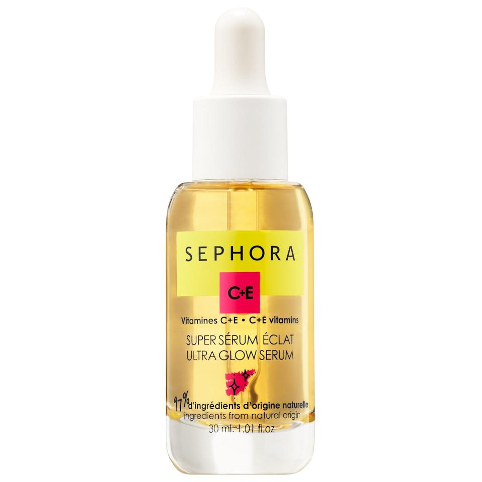 """<p><strong>SEPHORA COLLECTION</strong></p><p>sephora.com</p><p><strong>$20.00</strong></p><p><a href=""""https://go.redirectingat.com?id=74968X1596630&url=https%3A%2F%2Fwww.sephora.com%2Fproduct%2Fultra-glow-serum-glow-strengthen-vitamin-c-serum-P442594&sref=https%3A%2F%2Fwww.seventeen.com%2Fbeauty%2Fg34509628%2Fbest-face-serum%2F"""" rel=""""nofollow noopener"""" target=""""_blank"""" data-ylk=""""slk:Shop Now"""" class=""""link rapid-noclick-resp"""">Shop Now</a></p>"""