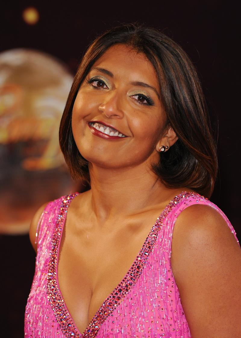 "BOREHAMWOOD, ENGLAND - SEPTEMBER 02: Sunetra Sarker attends the red carpet launch for ""Strictly Come Dancing"" 2014 at Elstree Studios on September 2, 2014 in Borehamwood, England. (Photo by Eamonn M. McCormack/Getty Images)"
