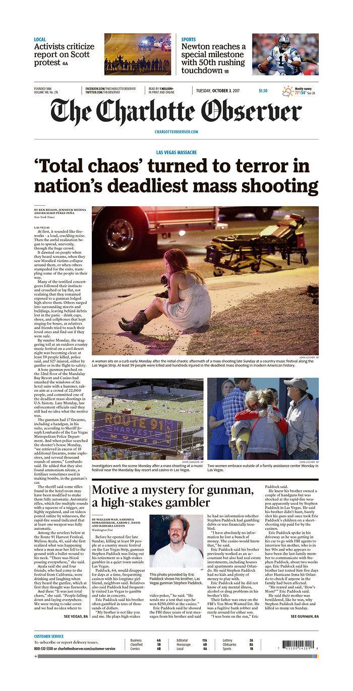"""<p>""""The Charlotte Observer,"""" published in Charlotte, N.C. (newseum.org) </p>"""