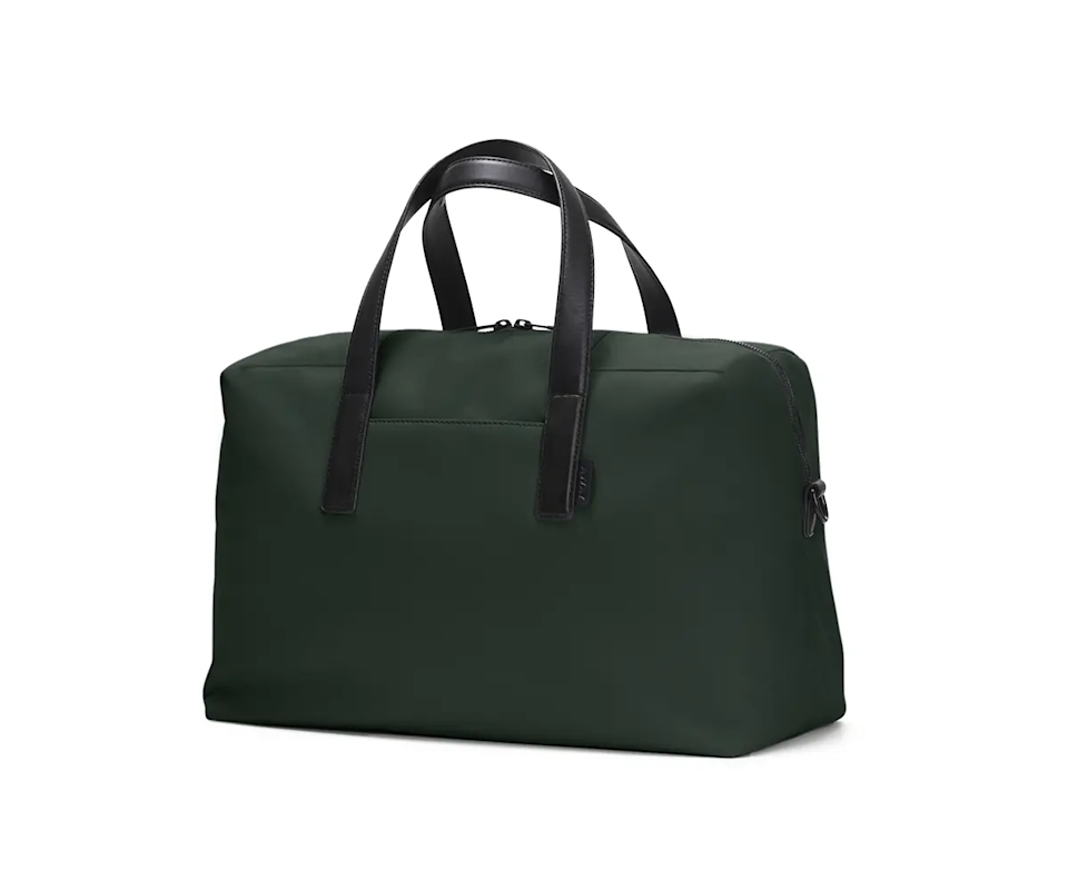 """<h3><strong>Away The Everywhere Bag</strong></h3><br>This even tighter take on the roomy duffle is perfect for a strict and stylish one-night stay <br><br><em>Shop <strong><a href=""""https://www.awaytravel.com"""" rel=""""nofollow noopener"""" target=""""_blank"""" data-ylk=""""slk:Away"""" class=""""link rapid-noclick-resp"""">Away</a></strong></em><br><br><strong>Away</strong> The Everywhere Bag, $, available at <a href=""""https://go.skimresources.com/?id=30283X879131&url=https%3A%2F%2Fwww.awaytravel.com%2Ftravel-bags%2Feverywhere-bag%2Fcoast-nylon"""" rel=""""nofollow noopener"""" target=""""_blank"""" data-ylk=""""slk:Away"""" class=""""link rapid-noclick-resp"""">Away</a>"""