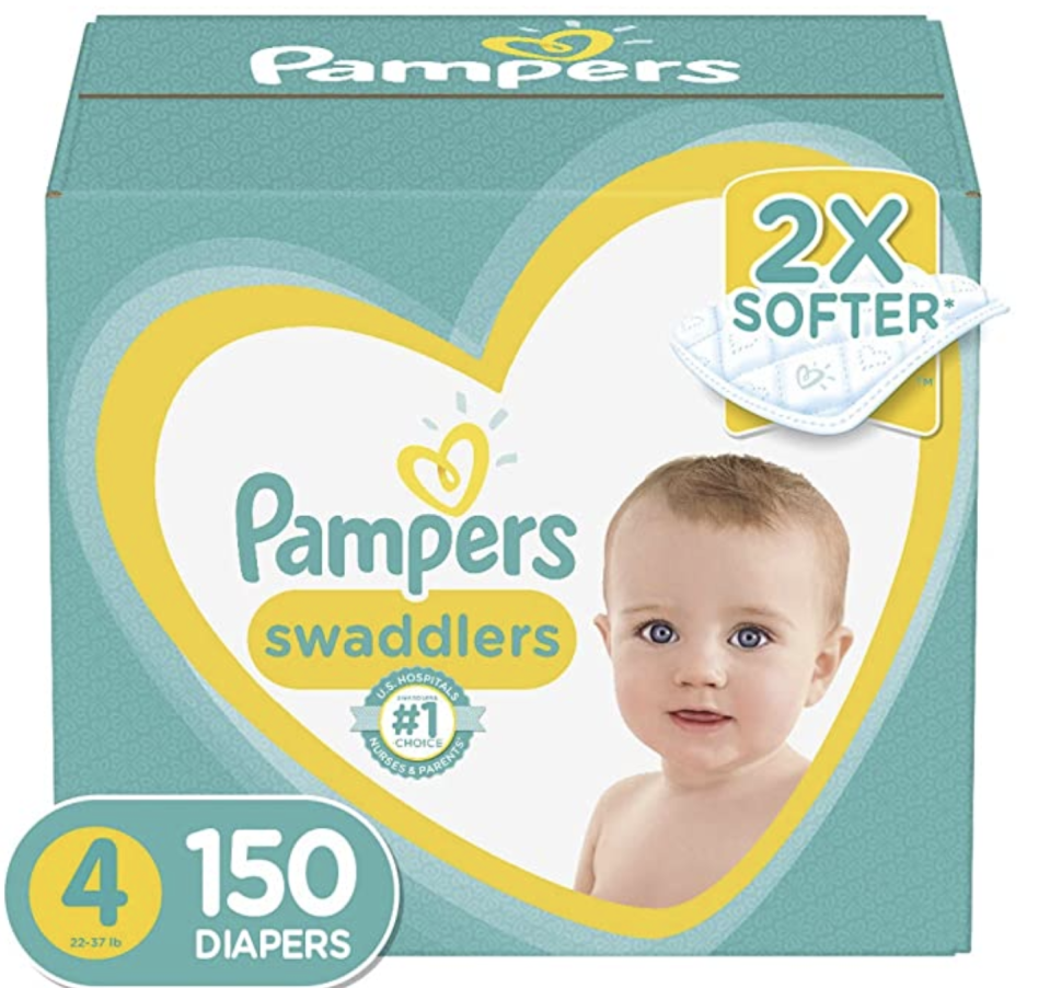 Pampers Baby Dry Tape Diapers, New Born, 90ct. (PHOTO: Amazon)