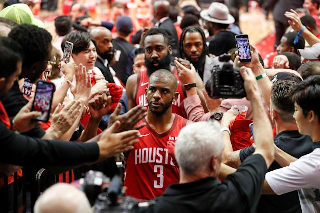 Chris Paul did Chris Paul things to the Warriors on Monday night in Game 4. (Getty Images)
