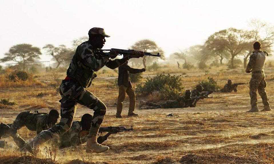 Nigerien service members during a Flintlock exercise in Diffa in 2017.