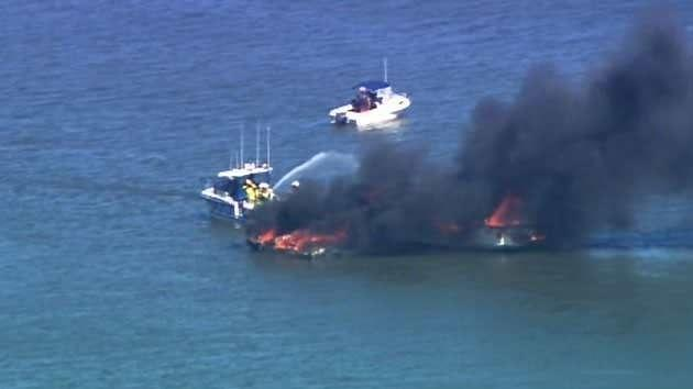 Crews were called to the blaze at about 2.15pm(AEST). Source: 7News