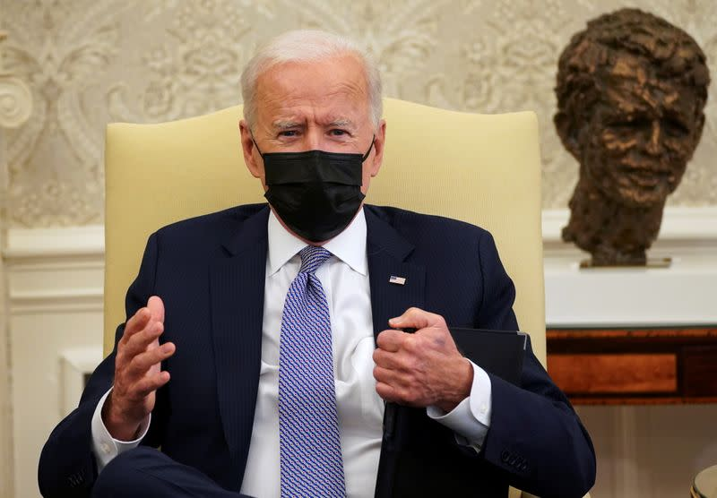 U.S. President Biden meets with members of Congress at the White House in Washington