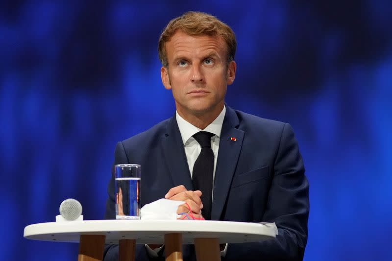 France's President Macron attends martitime economy conference in Nice
